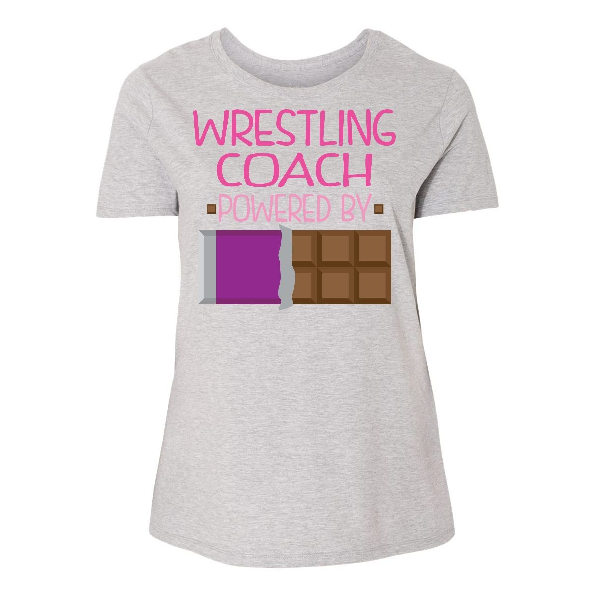 inktastic Wrestling Coach Funny Women's Plus Size T-Shirt 2 (18/20) Steel Grey