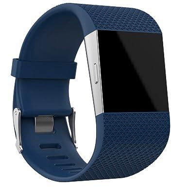 Correa de Relojes Casual, YpingLonk Silicona Golpe Adecuado para Fitbit Surge Watch Grande Ajustable Cómoda y Durable Lanzamiento De Recambio Hombres ...