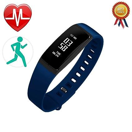 Wasserdicht Schrittzähler Bluetooth Laufende Sport Fitness Armband Schlaf Monitor Intelligente Oled Touchpad Herz Rate Fitnessgeräte Schrittzähler