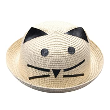 b246f98487e Amazon.com   Straw Fedora Hats for Unisex Baby Boys Girls