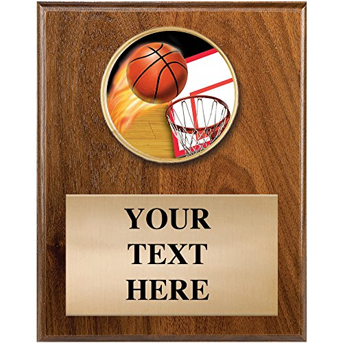 Basketball Plaque Awards - 4 x 6 Personalized Basketball Sports Plaque Award - Sports Awards Basketball