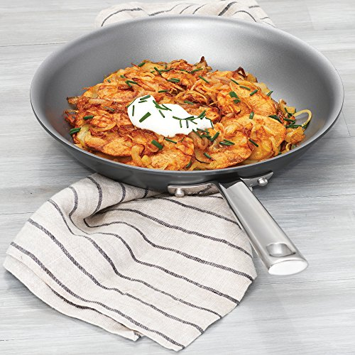 "Emeril Lagasse 62924 Dishwasher safe Nonstick Hard Anodized 2-pack Fry Pan, 8"" & 10"" ,Gray"