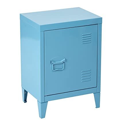 HouseinBox Low Standing Locker Organizer Side End Table Office File Storage Metal  Cabinet Cupboard Unit,