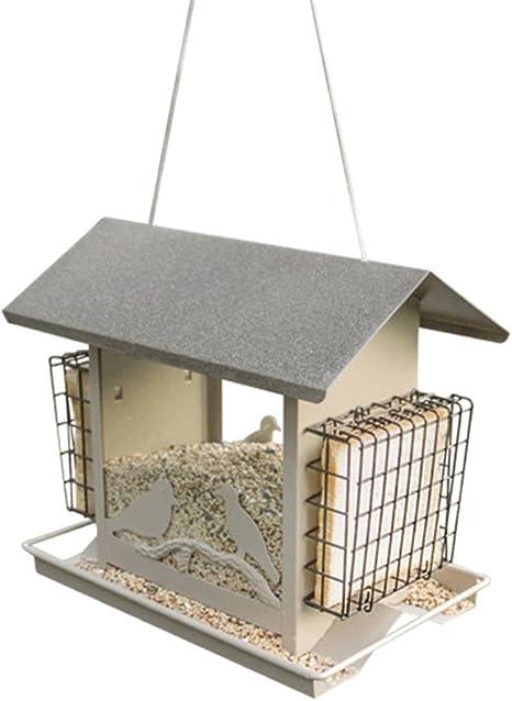 QINAIDI Hogar con Comedero para Pájaros Al Aire Libre Balcón Jardín Pájaro Salvaje Nido Pájaro Casa Alimentación Suministros para Aves: Amazon.es: Deportes y aire libre