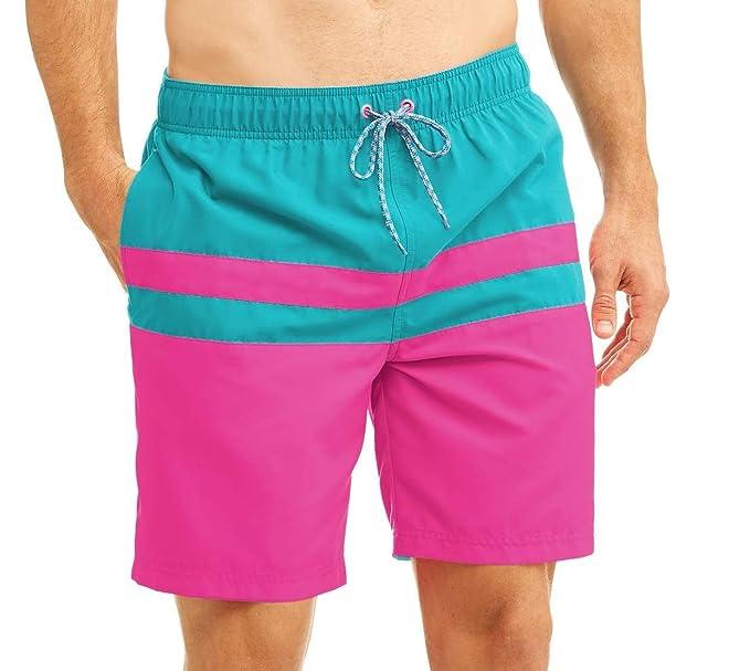 a4f0dc26ed Amazon.com: Men's All Guy Color Block Swim Shorts (XXXL 48/50 ...