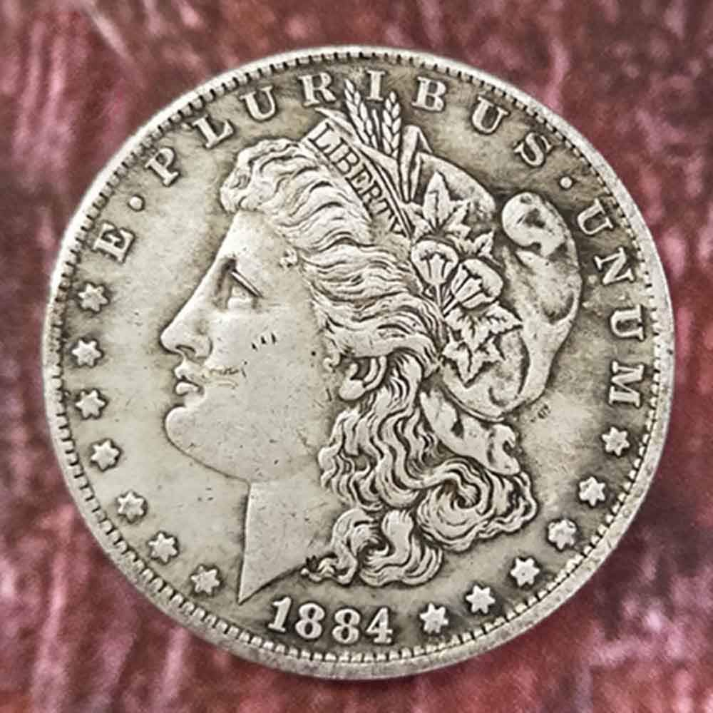 YunBest Best Morgan Silver Dollars-1884 Old Coin Collecting-Silver Dollar USA Old Original Pre Morgan Dollar BestShop