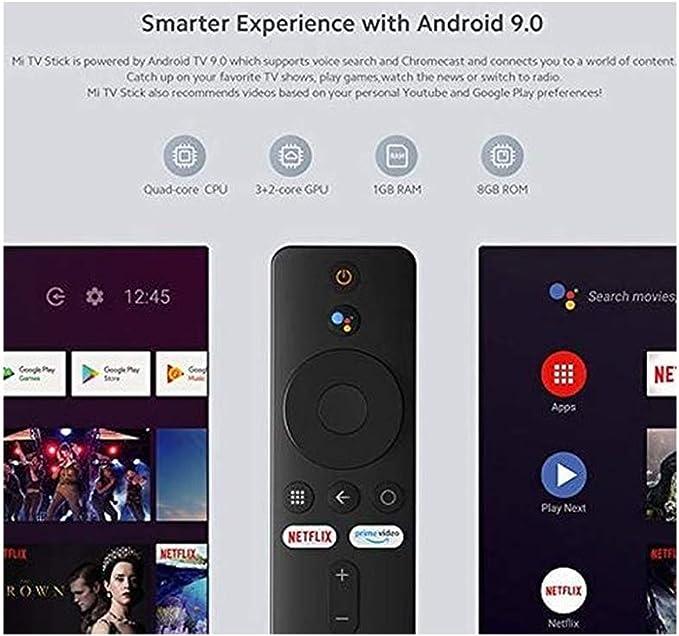 Xiaomi Mi TV Stick Full HD HDR HDMI Quad-Core DDR4 Bluetooth WiFi Dolby DTS HD Decodificación Dual Asistente de Google Netflix Android TV 9.0 [Versión Global]: Amazon.es: Electrónica