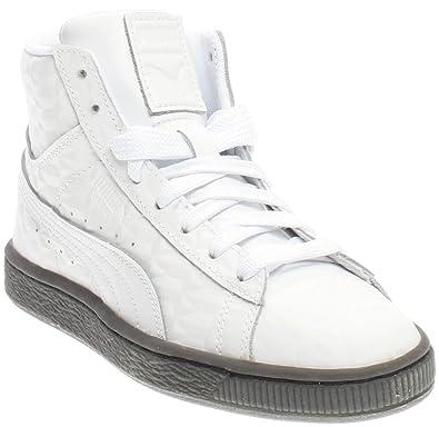 promo code e2965 36562 PUMA Boys Basket Classic Mid Emboss Junior Athletic Sneakers,