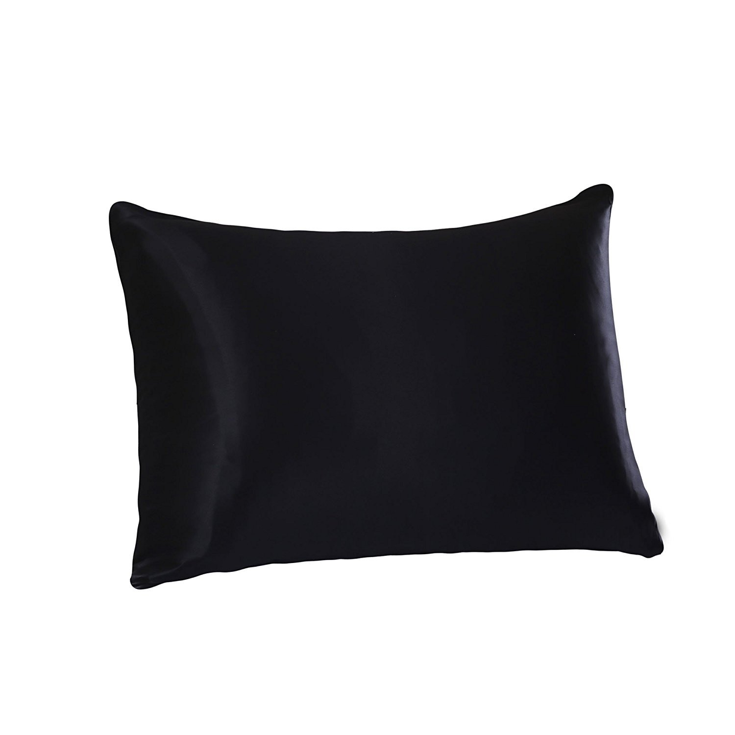 Tim & Tina 22 Momme 100% Pure Mulberry Luxury Silk Pillowcase, Good for Skin and Hair, Facial Beauty (Toddler/Travel, Black)