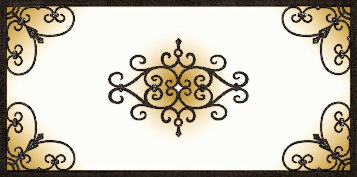 Decorative Fluorescent Light Cover Tuscan Iron - Copper (47 3/4 x 23 3/4)