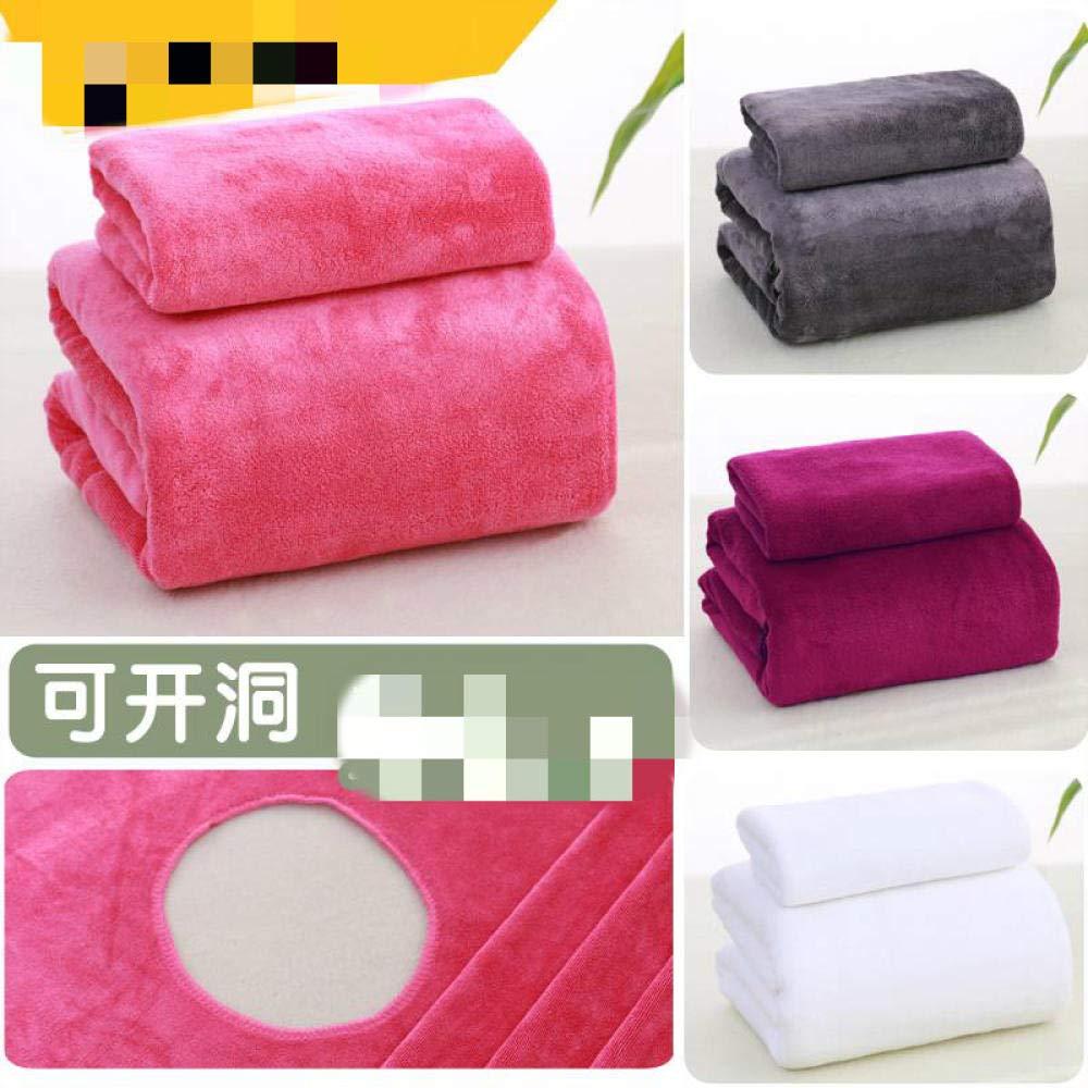Blanc /épais Pas de Serviette STSJSI Serviette de Bain Salon de beaut/é Serviette de Bain Grande literie de beaut/é Drap de lit de Massage Pas de Trous/_190x80cm