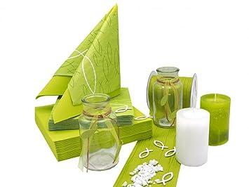 Tischdeko Grün zauberdeko tischdeko kommunion konfirmation grün kiwi weiß fisch