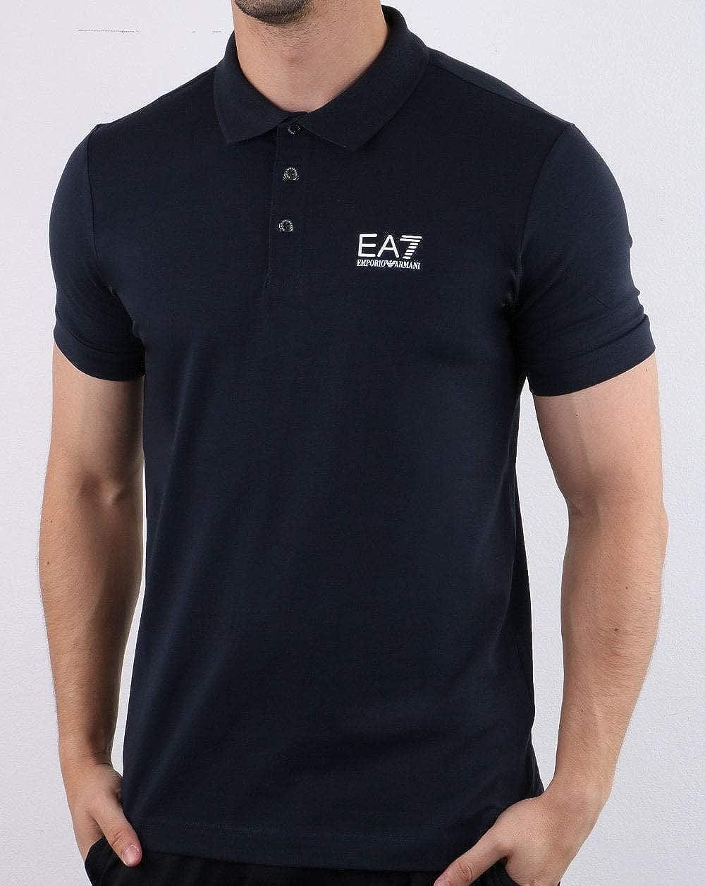 Emporio Armani EA7 Polo Shirt Dark Navy Azul S: Amazon.es: Ropa y ...