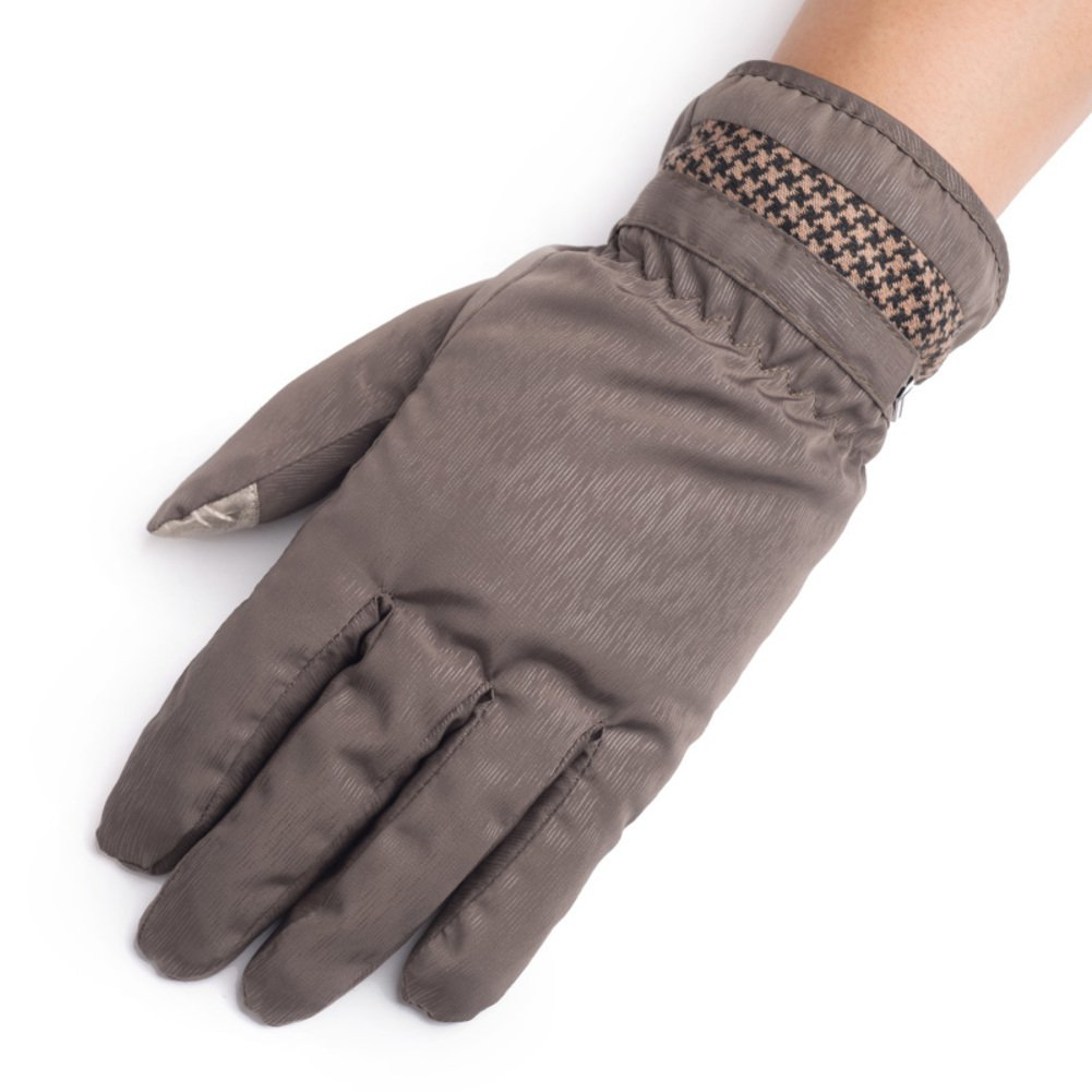 Warm outdoor windproof gloves and all men's gloves [plus velvet touch screen gloves] Added velvet touch screen gloves-B One Size