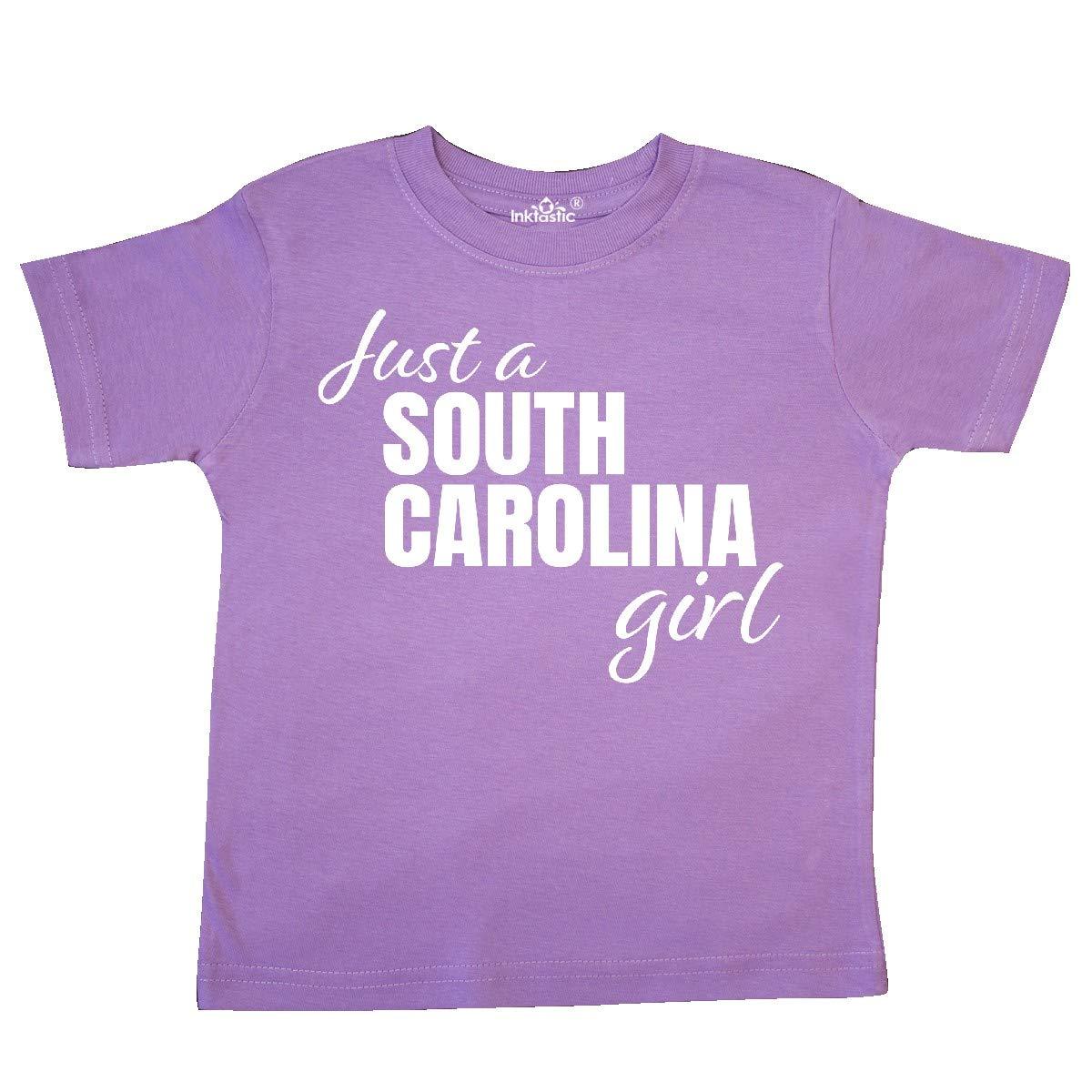 inktastic Just a South Carolina Girl Born and Raised Toddler T-Shirt