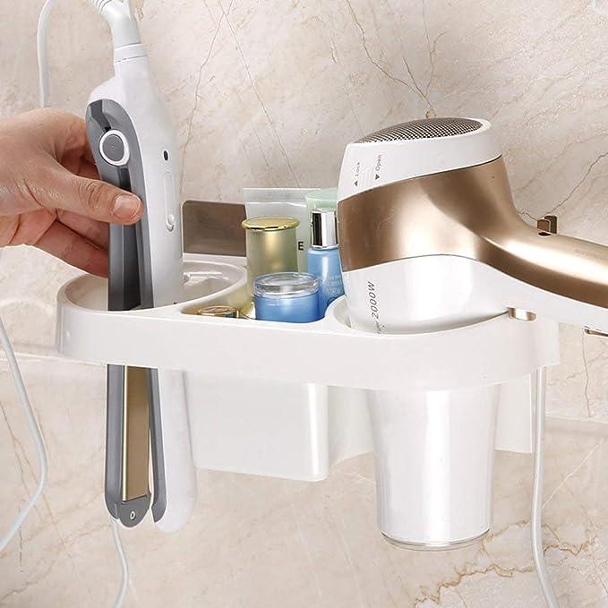 para el hogar con adhesivo resistente al agua hotel Soporte para secador de pelo de ba/ño GerTong