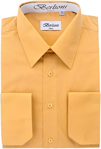 Berlioni Italy - Camisa de Vestir para Hombre (Manga Corta ...
