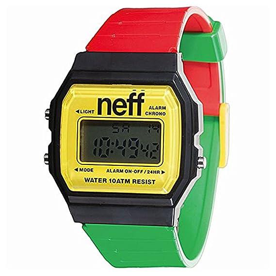 Neff Flava XL surf de hombres reloj Rasta talla única: Amazon.es: Relojes