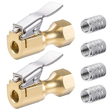 FineGood - Cerradura de flujo cerrado de 2 piezas en mandriles neumáticos, Latón 1/