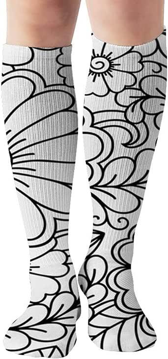 Jesse Tobias Esquema de calcetines de compresión florales