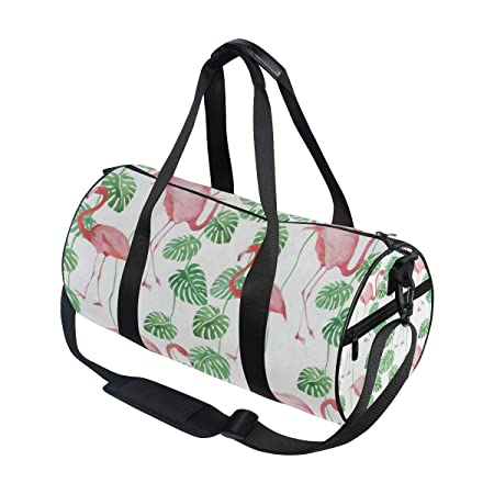 OuLian Duffel Bag Tropical Leaves and Flower Women Garment Gym Tote Bag Best Sports Bag for Boys