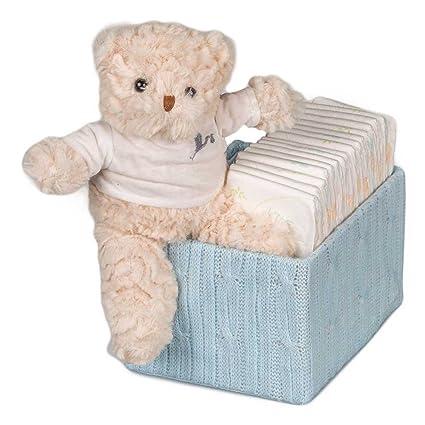 Caja Punto Happy con Pañales y Osito de BebeDeParis-Azul- caja ...