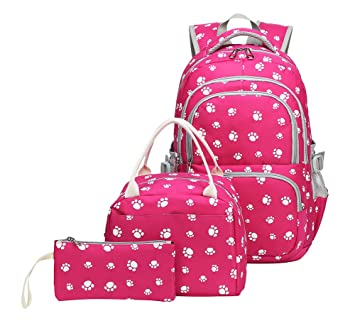 Amazon.com: Tonlen Mochila escolar y lonchera para niñas ...
