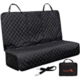 SuperCanine Dog Seat Cover - Waterproof, Scratch Proof & Fits Back Seat of Most Cars & SUVs - Perfect for Pets or Kids, Compatible with Seatbelts & Baby Seats - Includes Dog Seatbelt & Carry Bag