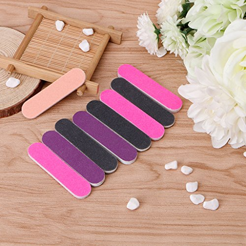 Milue Nail Files Sandpaper Round Double Side Nail Art Tips Manicure For Salon Home Use by Milue (Image #5)