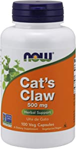 NOW Supplements, Cat's Claw 500 mg, Non-GMO Project Verified, 100 Veg Capsules