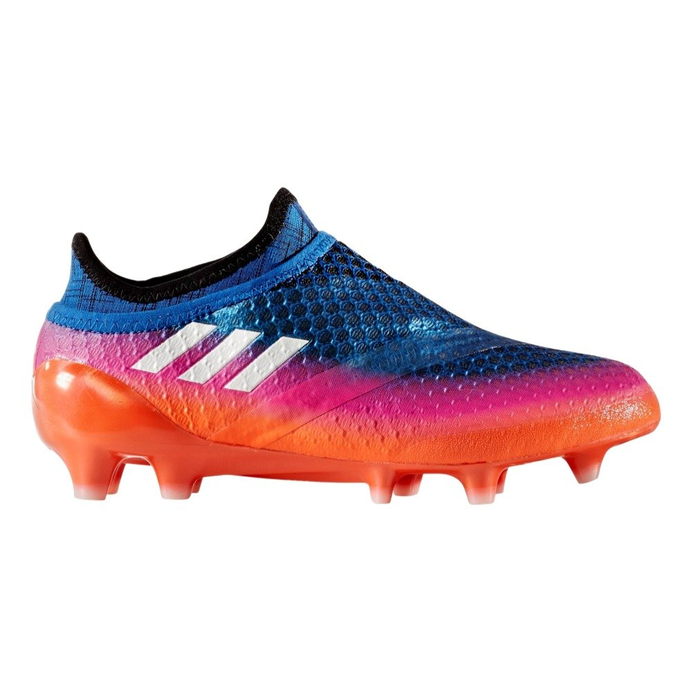 adidas Youth Soccer Messi 16+ Pureagility Firm Ground Cleats, 4.0 D(M) US, Blue / Running White / Black by adidas