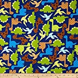 Robert Kaufman Kaufman Urban Zoologie Dinosaurs Navy Fabric By The Yard
