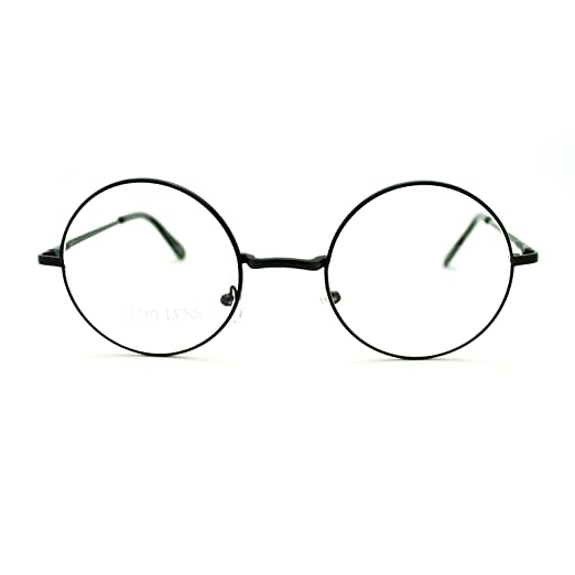 baa13e27e Black 70s Hippie John Lennon Circle Lens Imagine Groovy Wire Rim Fashion  Glasses