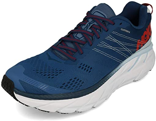 HOKA ONE One Clifton 6 Deportivas Hombres Negro/Blanco Running/Trail: Amazon.es: Zapatos y complementos