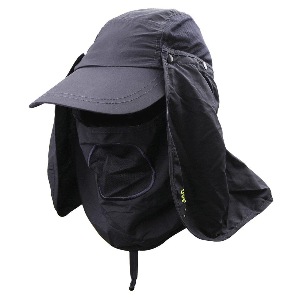 Fishing Hats,Fisherman Hat Sun Hat 360 UV Protection Summer Sunhat Baseball Cap Men Women Sun Visor Cap Removable Neck Face Mask Head Flap Cover for Hiking Beach Camping Boating Outdoor Gardener