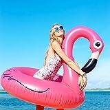 Gonflable Flamingo Pool Float 41 '' Giant Beach Lounge Lilos par Wishtime
