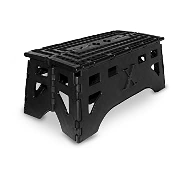 Marvelous Expace Folding Step Stool 20 Inch Extra Wide Heavy Duty Non Slip For Indoor And Outdoor Use Adults And Kids Up To 500Lb Black Evergreenethics Interior Chair Design Evergreenethicsorg