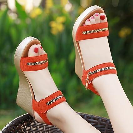 In Female Shoes Pendenza Sandali Con Estate Casual Spessi Single qZ1UWStwq