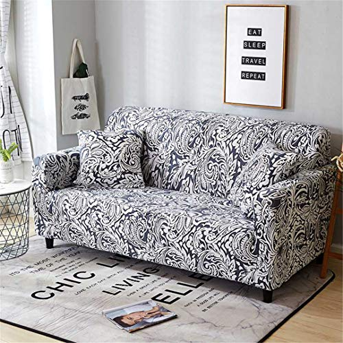 (Ranferuyk Elastic Spandex Sofa Cover Tight Wrap All-Inclusive Couch Covers for Living Room Sectional Sofa Cover Love Seat Patio Furniture Color 9 2-Seater 145-185cm)