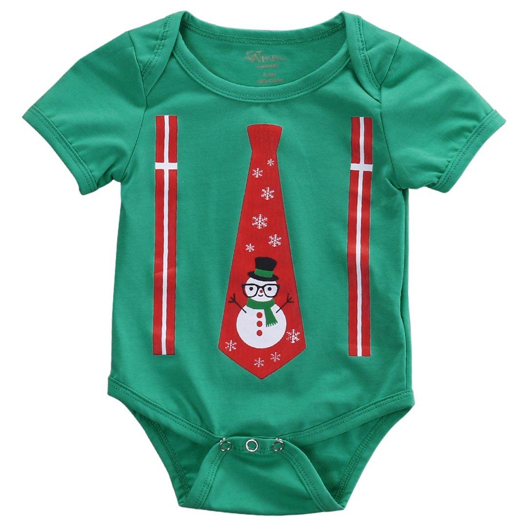 e3b098fad32 Top5  Newborn Baby Kids Snowmen My First Christmas Romper Jumpsuit Outfits  Costume