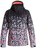 Roxy SNOW Junior's Jetty Printed Gradient Regular Fit Snow Jacket, Gradient Flowers, L