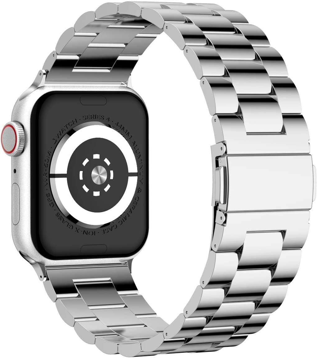 iiteeology Compatible with Apple Watch Band 38mm 40mm, Stainless Steel iWatch Band Replacement Strap for iWatch SE & Series 6 5 4 3 2 1 - Silver
