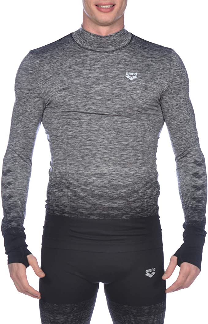ARENA Herren Herren Lauf Langarm Shirt Nahtlos Sport Shirt