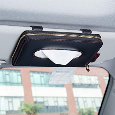 Fredyusu Car Tissue Holder, Car Visor Tissue Holder, Perfect Solid Color Auto Tissue Box, Tissue case Holder for car (Black): Automotive