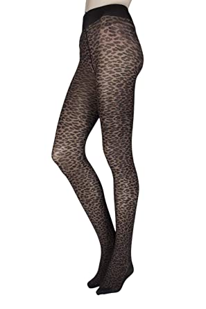 6df95afc78e193 Ladies/Women Leopard Print Tights in Black Bargain Price Great Quality:  Amazon.co.uk: Clothing