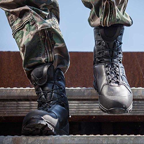 Haix - Botas de Piel para hombre Negro negro 45, color Negro, talla 48 EU / 13 UK