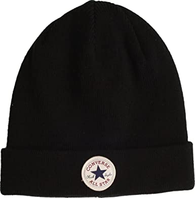 53c2ce9d218 Converse All Star Classic Knitted Beanie Hat Black  Amazon.co.uk  Clothing