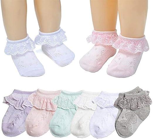 Baby Girls Princess Lace Thin Spring Summer Cotton Socks Dress Socks Ruffles