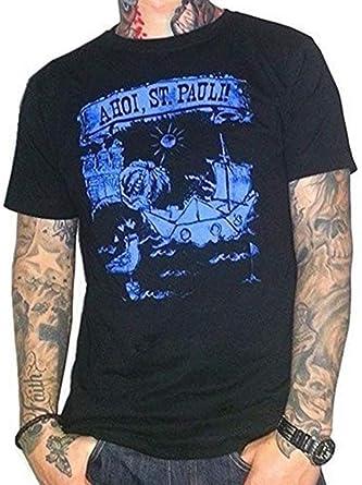 Kiezkicker Camiseta de Hombre Ahoi St.Pauli Negro: Amazon.es: Ropa ...