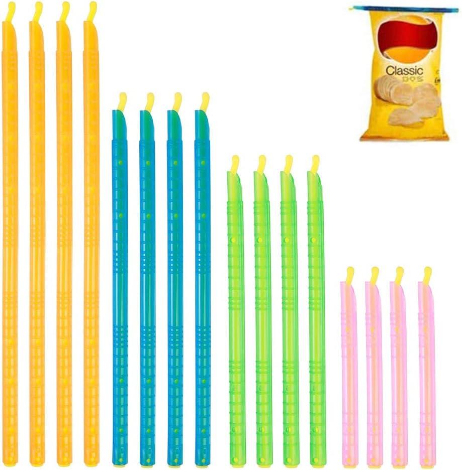 16 PCS Plastic Bag Sealer Sticks Reusable Bag Sealing Clips, Bag Sealer Sealing Clips Sticks
